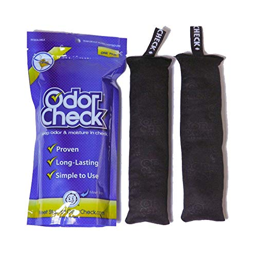 Odor Check Natural Air Deodorizer Purifier Odor & Moisture Control for Shoes, Bags, Lockers, Luggage & Sporting Equipment ()