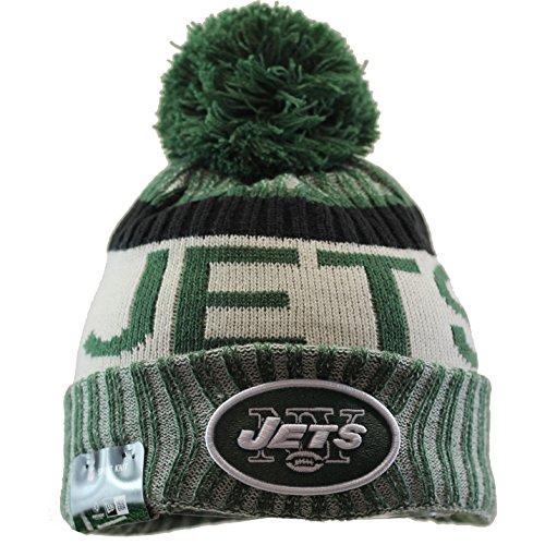 New Era Men's Men's Jets 2017 Sideline Official Sport Knit Hat Green Size One Size (York Jets New Hat Winter)