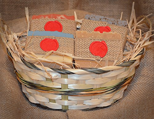 Handcrafted Goat Milk Soap Four Bar Gift Basket (Strawberries And Champagne Gift Baskets)