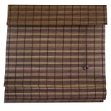 Lewis Hyman 0248452 52-Inch By 64-Inch Rio Fruitwood Woven Wood Bamboo Shade