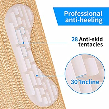 Premium Heel Grips Liner Cushions Inserts (2 Pairs) 4D Heel Pads for Women and Men Loose Shoes, Self-Adhesive Shoe Insoles Foot Care Protector, Prevent Heel Rubbing, Blisters, Slipping Out