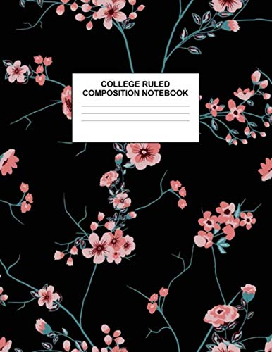 College Ruled Composition Notebook: Cute Blank Lined Journal to Write In with White Paper Rule Pages for School Subject and Writing Pad : Design Code A4 7510