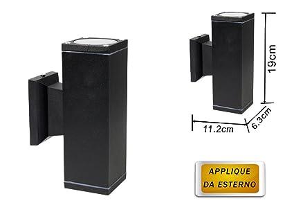 Vetrineinrete applique a parete doppia emissione luminosa per