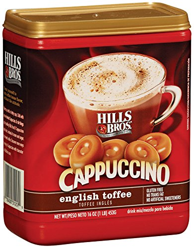 Hills Bros Cappuccino, English Toffee, 16 Ounce
