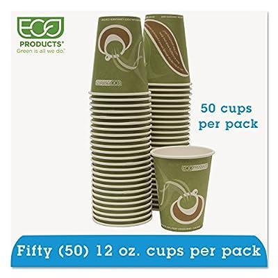 Eco-Products ECOEPBRHC12EWPK Evolution World PCF Hot Cups, Post-Consumer Fiber, Recycled, 12 oz