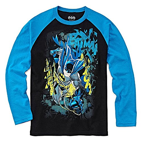 Batman+Shirts Products : DC Comics Big Boys' Batman Long Sleeve Raglan Tee