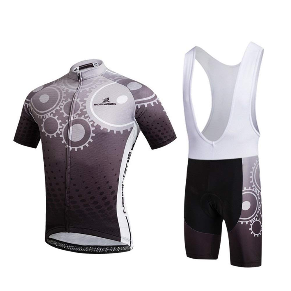 Fahrradtrikot for Männer Elastische atmungsaktive Fahrrad Mountainbike Reitanzug Kurzarmanzug Reitanzug Fahrrad Trikot LPLHJD