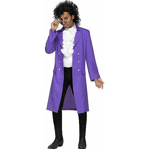 Prince purple rain pop star mens fancy dress 80s music celebrity prince purple rain pop star mens fancy dress 80s music celebrity adults costume m solutioingenieria Images