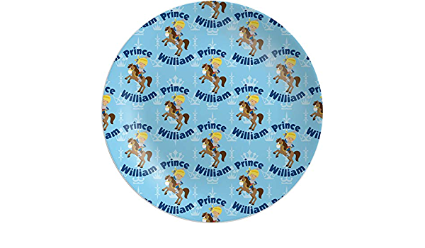 Personalized Melamine Plate Plate 8 or 10 inch Princess Prince Royal Pony