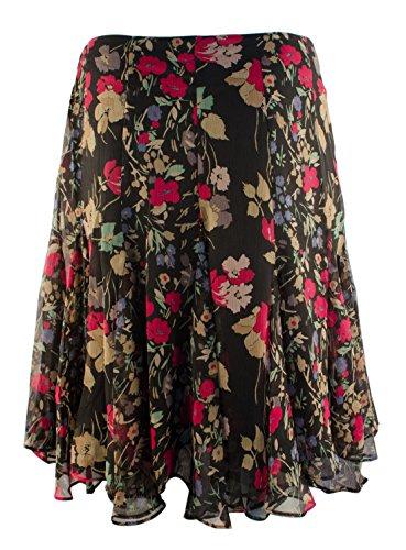 Lauren Ralph Lauren Women's Plus Size Multi Floral Georgette Skirt-BM-22W