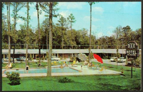 Dixie Motel US 41 South Side Adel GA postcard 1960s