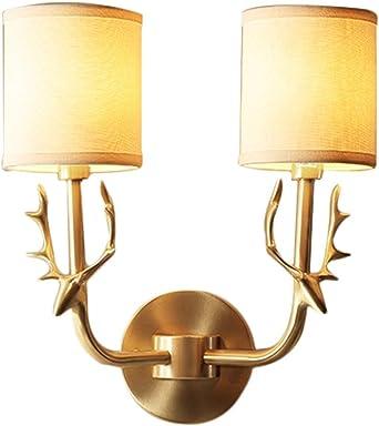 Wandleuchten All American Kupfer Neue Wandleuchte Einzelkopf Geweih Wandleuchte Wohnzimmer Schlafzimmer Nachttisch Wandleuchte Amazon De Beleuchtung