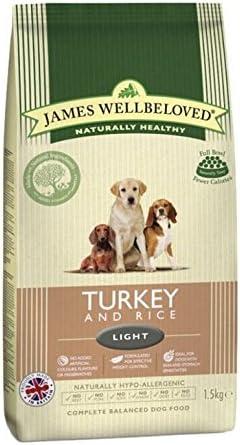 James Wellbeloved Alimento seco Completo para Perros, Pavo y arroz, 12,5 kg