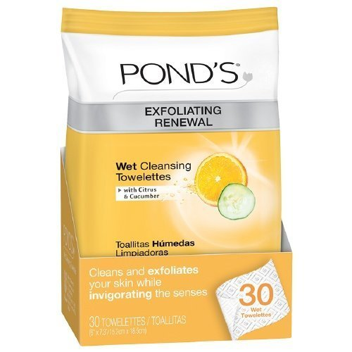 Amazon.com: PONDS Exfoliating Renewal Wet Cleansing Towelettes, 30-Count (Pack of 2) by Ponds: Beauty