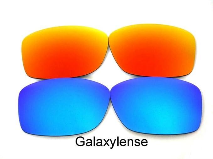 Galaxy Lentes De Repuesto Para Oakley Jupiter Squared azul y rojo Polarizados 2 Pares - Transparente