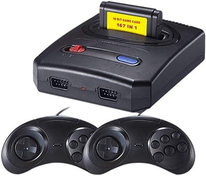 ALRY Mini Consola De Videojuegos Retro Classic TV Consola De Juegos Controlador Dual Gratis 16 bits 167 En 1 Diferente para Juegos Sega MD: Amazon.es: Deportes y aire libre