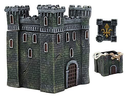 Ebros European French Medieval Castle Fortress With Le Fleur Design Jewelry Box Figurine 5