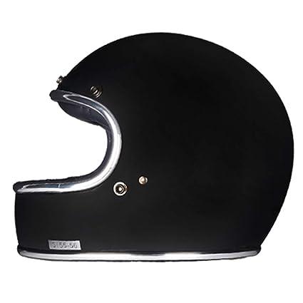 0bd19b66 Amazon.com: Loyasun Full Face Motorcycle Helmet Fiberglass Retro Classic Vintage  Style Helmet,Chopper,Cafe Racer,Crusier,Street Bike,DOT Approved: Sports &  ...