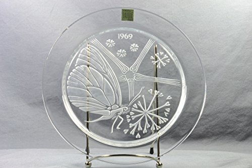 Lalique Crystal Annual Plate, 1969 Papillon