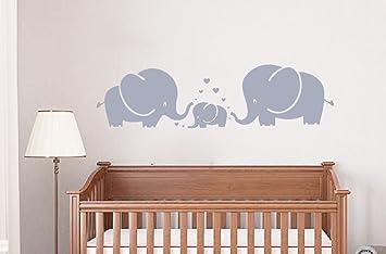 Amazoncom LUCKKYY Cute Three Family Elephant Wall Decals For Kid - Elephant wall decals