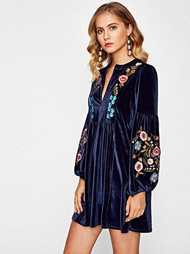 Milumia-Vestido-elegante-de-terciopelo-con-estampado-de-flores-para-mujer