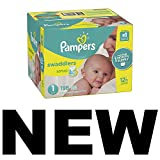 Pampers Swaddlers Disposable Diapers Size 1, 198 Count