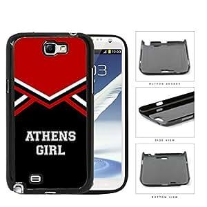 Athens City Girl School Spirit Cheerleading Uniform Samsung Galaxy Note II 2 N7100 Hard Snap on Plastic Cell Phone Cover hjbrhga1544