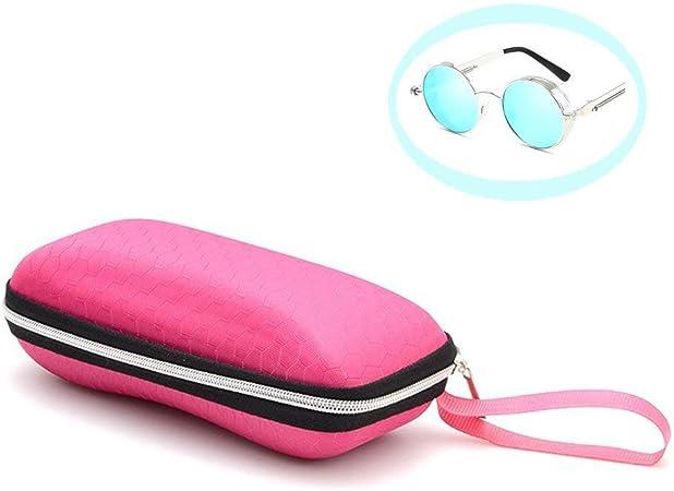 LAMEIDA Estuche para Gafas con Cremallera Resistente Funda de Gafas Rígidas Impermeable para Gafas de Sol con Cremallera Almacenaje Lente Suave Sunglasses Case-Púrpura Azul Negro Rosa: Amazon.es: Hogar