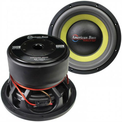 American Bass Godfather GF1222 12'' 400 oz Magnet 4'' Voice Coil Dual 2 ohm