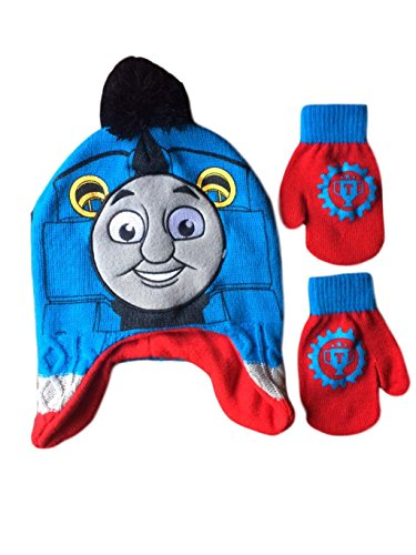 Berk Fashion Thomas Friends Train Hat and Mittens For Toddler Boys One Size Fits Most 2T-5 - Kids Hat N Mitten