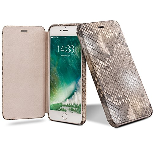 iPhone 8 Plus Case, iPhone 7 Plus Case, QIALINO Unique Style Genuine Leather Cover Flip Sleeve for Apple iPhone 8Plus / 7Plus by QIALINO