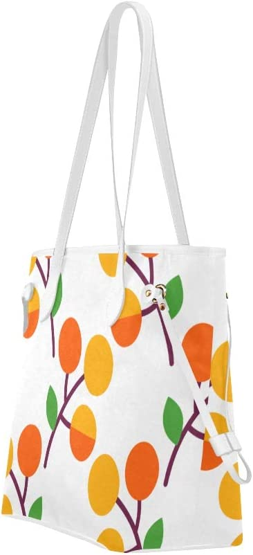 Work Tote Bag Apricot Cartoon Fruit Womans Shoulder Bag Woman Bags Large Capacity Water Resistant with Durable Handle