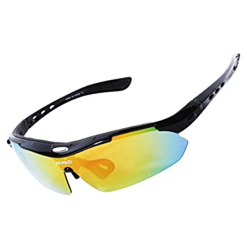 00e9041c3a08 QXHMYJ ection Polarized light Cycling glasses Anti-fog Run HD Eye  protection Sports Glasses Equipped with 5 interchangeable lenses Used for MTB  Mountain ...