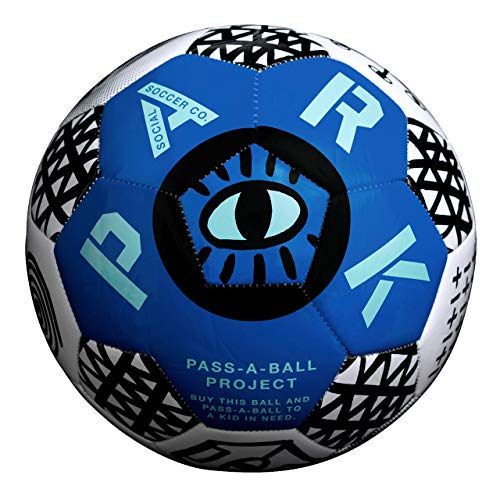 Park Soccer Balls - Each Soccer Ball Purchase Benefits Kids in Need Making a Global Impact - Adult and Youth Soccer Ball (Blue, Size 5 Soccer Ball)