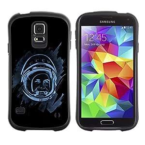 Be-Star Impreso Colorido Diseño Antichoque Caso Del iFace Primera Clase Tpu Carcasa Funda Case Cubierta Par Samsung Galaxy S5 SM-G900 ( Space Astronaut )