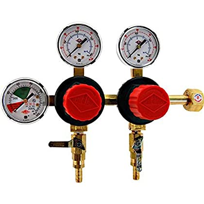 Image of Taprite T752HP Two Product Dual Pressure Kegerator CO2 Regulator Home and Kitchen