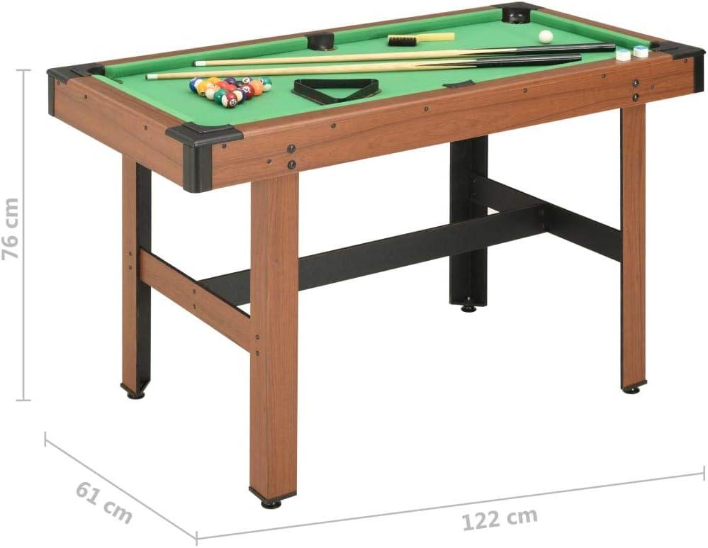 Tidyard Mesa de Billar de 4 pies marrón con niveladores de Patas Ajustables 122x61x76 cm: Amazon.es: Hogar