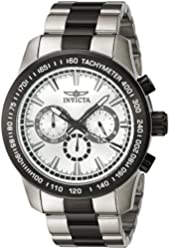 Invicta Men's 'Speedway' Quartz Stainless Steel Automatic Watch, Color:Two Tone (Model: 21799)