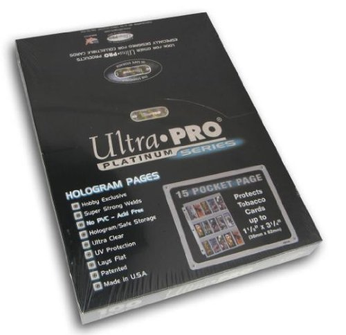 (Ultra Pro 15-Pocket Platinum Page for Tobacco Cards 100 ct.)