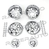 05-17 Ford Super Duty F350+F450+F550 Dually Truck ONLY Chrome 17'' 8 Lug Wheel Simulator Liner + Center Caps Cover Set (Chrome)