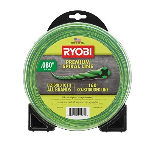 Ryobi AC04147 0.080 in. x 160 ft. Premium Spiral Cordless and Gas Trimmer Line ()
