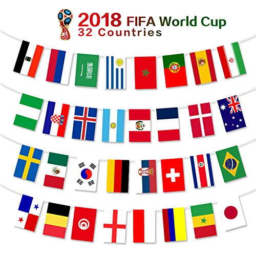 2018 fifa world cup flags russia soccer football flag for Mundial decor international nv
