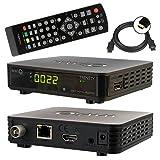 netshop25 SET: WWIO HD Full HD DVB-C Kabelreceiver + HDMI Kabel (HDMI/LAN/USB), Mediaplayer schwarz