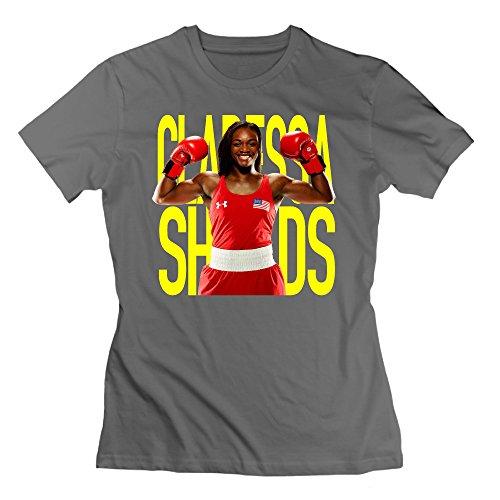 Claressa Shields Boxing DeepHeather Women's Sport Tee Shirt For Girlfriend Size -