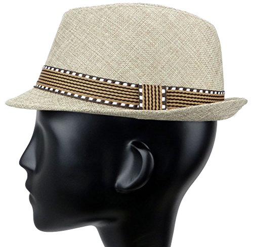 Subtle Addition Kids Fedora/Trilby Hats (Brown and Brown) by Subtle Addition (Image #3)