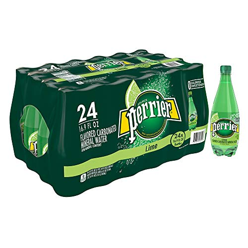Perrier Lime Flavored Carbonated Mineral Water, 16.9 fl oz. Plastic Bottles (24 Count)