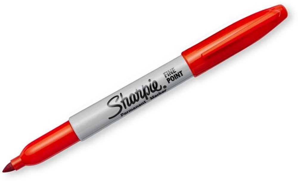 Sharpie 30002 Fine Point Permanent Marker, Marks On Paper and Plastic, Resist Fading and Water, AP Certified, Red Color, Case of 24 Dozens by Sharpie (Image #2)