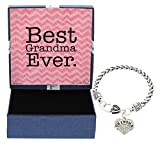Mother's Day Gift Idea for Grandma Gifts Best Grandma Ever Jewelry Bracelet Silver-Tone Charm Bracelet Gift for Grandma Christmas Gift for Grandma Gift for Mom Gift for Grandmother