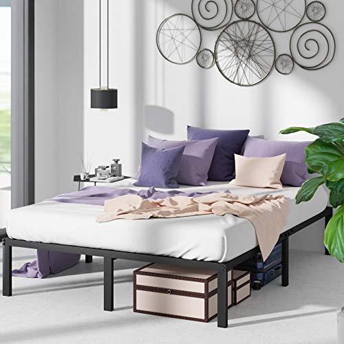 ZINUS Yelena Metal Platform Bed Frame / Steel Slat Support / No Box Spring Needed / Easy Assembly, King