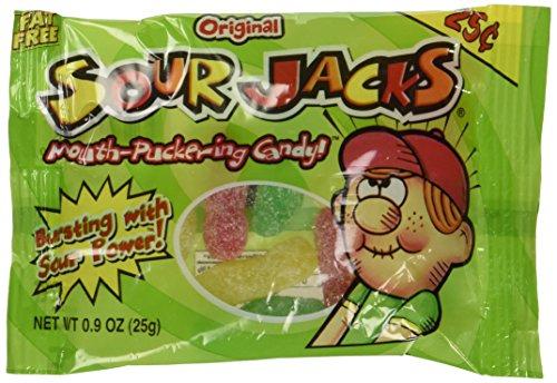Sour Jacks Soft & Chewy Sour Candy 24 units 1 Box -